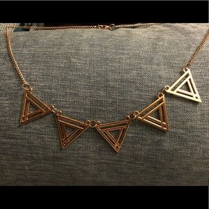 Gold Tone Triangle Necklace
